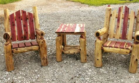outdoor log furniture log furniture plans recycled things