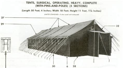 3 section tent ww2 medical tentage ww2 us medical research centre