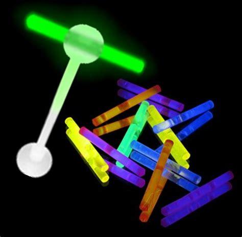 Stick Barbell tongue jewelry micro glow stick illuminating barbell