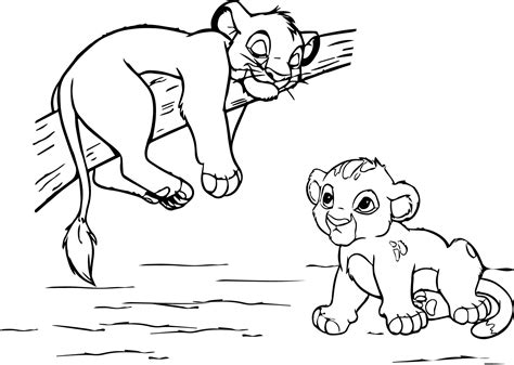 little lion coloring pages lion king little babies free coloring page animals
