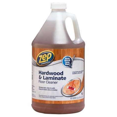zep 128 oz hardwood and laminate floor cleaner zuhlf128 the home depot