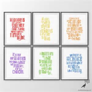 Harry Potter Nursery Decor Harry Potter Nursery Quotes Print Set Baby Boy Nursery Decor