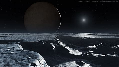 The View From Pluto by Pluto Seen From Charon 2015