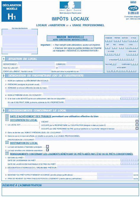 Declaration Modele H1 taxes fonci 232 res sur les propri 233 t 233 s b 226 ties ecologie