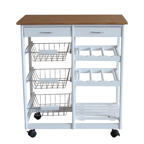 kitchen trolley island foxhunter white kitchen trolley island wooden worktop