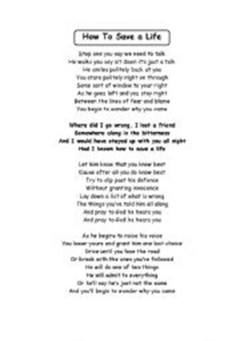 English teaching worksheets: Other songs