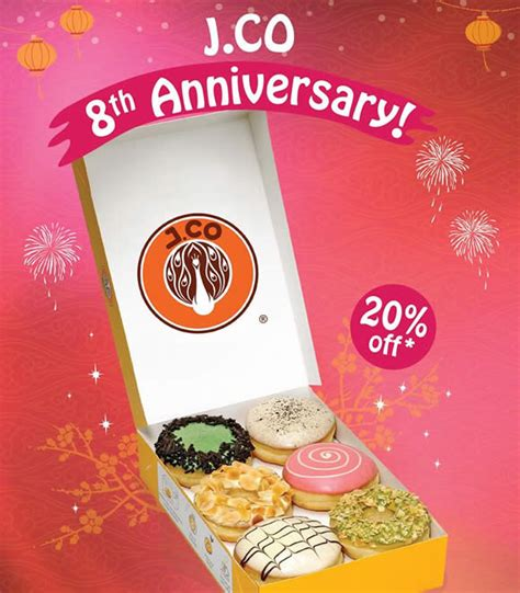 J Co Donuts And Coffee j co donuts coffee 20 donuts 8th anniversary promo 9 feb 2016