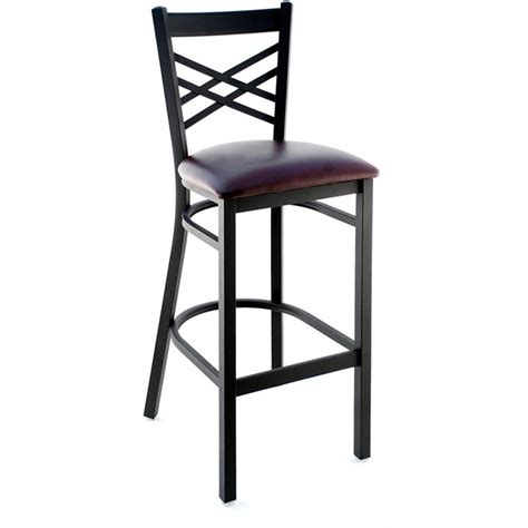 Back Bar Stools by Metal Cross Back Bar Stool