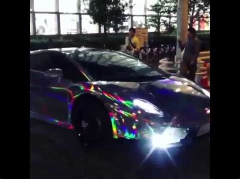 rainbow chrome lamborghini crazy chrome rainbow lamborghini gallardo youtube