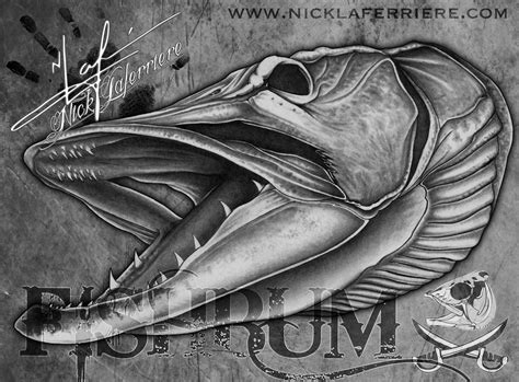 pike tattoo designs the musky esox masquinongy is one of the largest