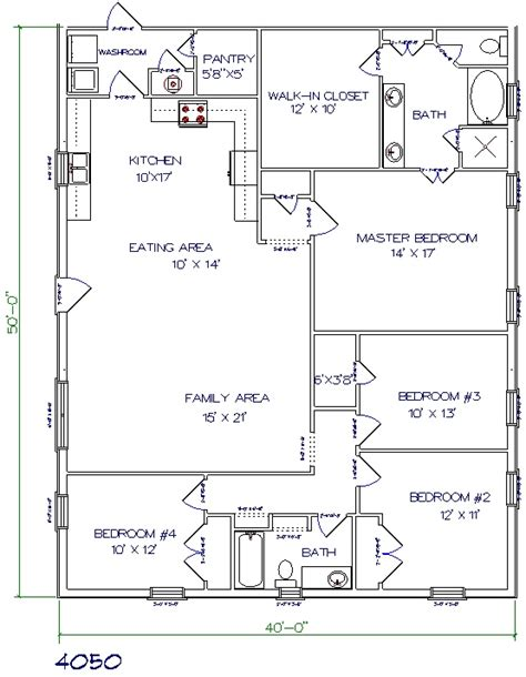 floor plans for homes in texas texas barndominium floor plans 40x50 metal building house