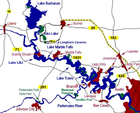 highland lakes texas map s tuppence 2 cents in brit tx lakes in the quot highland lakes chain quot inks lake longhorn
