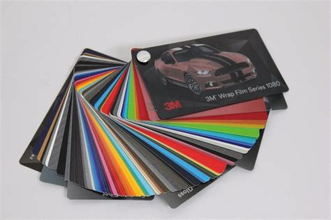 3m 1080 colors 3m 1080 vinyl wrap color sle swatch booklet ebay