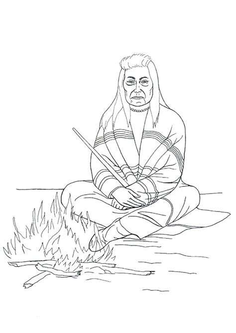 native american coloring 7 free coloring page site az