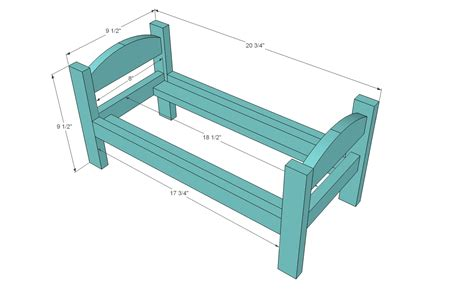 bed dolls woodwork doll bed plans american girl pdf plans