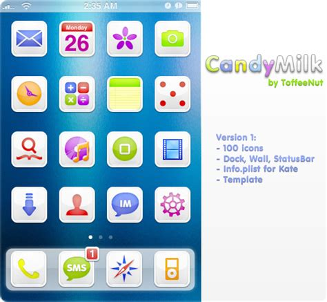iphone themes folder location candymilk iphone theme by toffeenut on deviantart