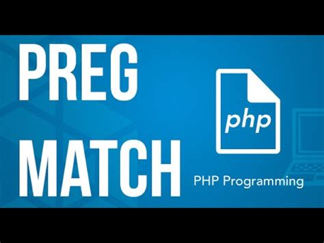 tutorial php preg match using regular expressions finding matches with preg