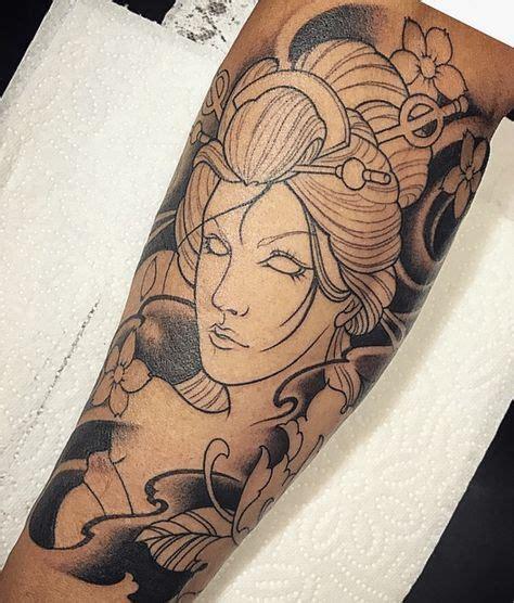 tattoo voorbeelden geisha mais de 25 ideias 250 nicas de irm 227 os metralha tattoo no