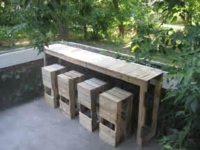 bar table design stacked design pallet bar table