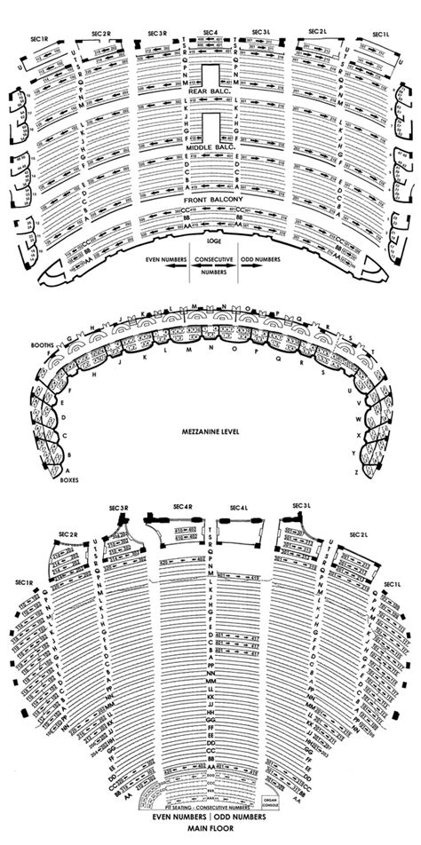 chicago theatre seating chart theatre  chicago