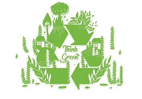 Think Green think green poster vector free vector