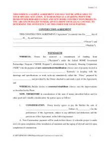 free construction contract template best photos of free contract agreement forms free