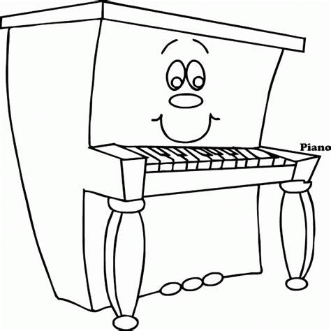 mewarnai gambar alat musik piano versi kartun contoh anak paud