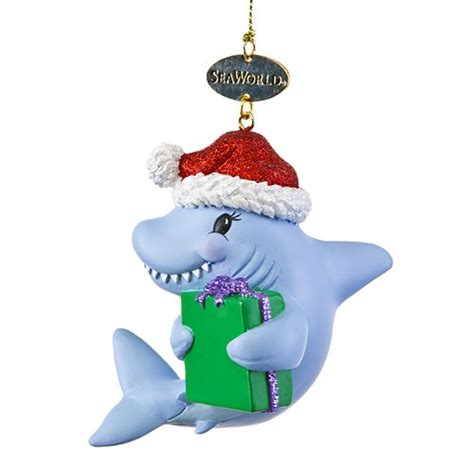 your wdw store seaworld christmas ornament shark with