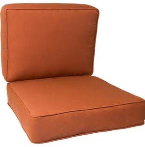 Small Chair Cushion Small Replacement Club Chair Cushion Set With Piping