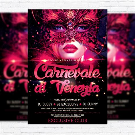 carnival premium flyer template facebook cover