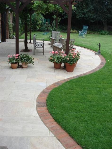 brick patio edging 66 creative garden edging ideas to set your garden apart