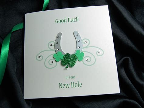 lucky horseshoe handmade luck card