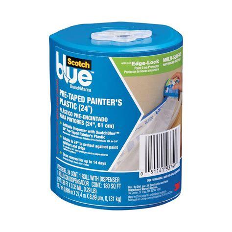 clear plastic drop cloth 10u0027 x 3m scotchblue 24 in x 30 yd pre taped painter s plastic