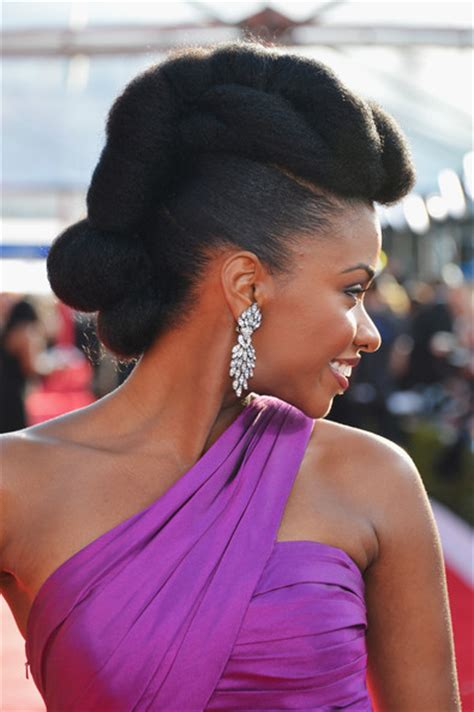 2013 red carpet updo hairstyles natural hairstyles from the red carpet teyonah parris