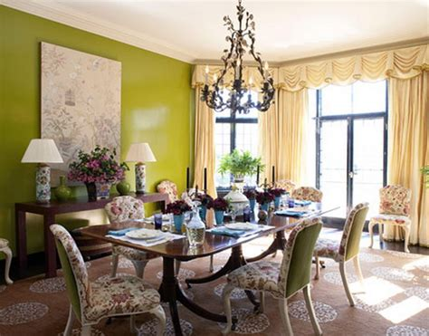 Green Dining Room Ideas Green Interior Designs For Modern And Classical Home Home Design Ideas