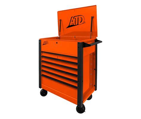7 Drawer Cart by Save Big On Atd 70402 7 Drawer Orange Tool Cart At Toolpan