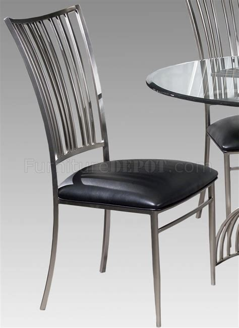 Dining Table Glass Brushed Nickel Dining Table