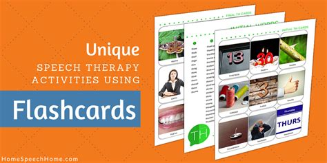unique speech therapy activities using flashcards
