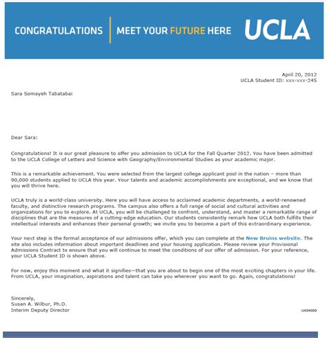 Ucla School Mba Acceptance Rate by Ucla Acceptance Letter Levelings