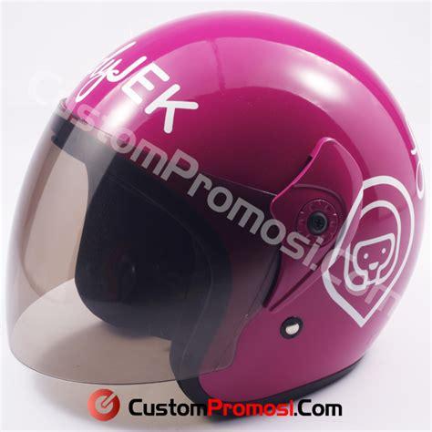 Helm Custom Promosi Ok Jek pabrik helm custom tempat pembuatan helm promosi