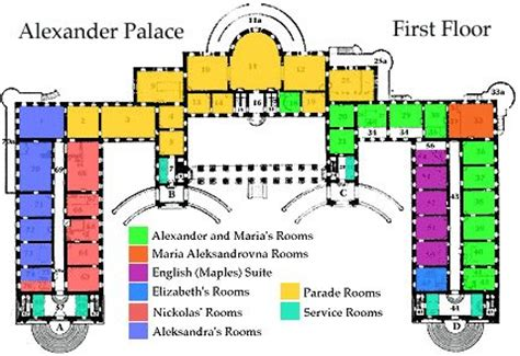 alexander palace floor plan palace plan floor plans castles palaces pinterest