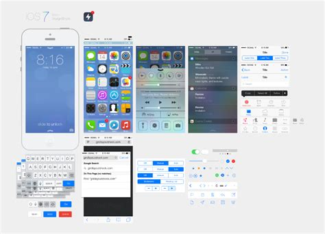 ios design templates free ios 7 ui design free vector graphic