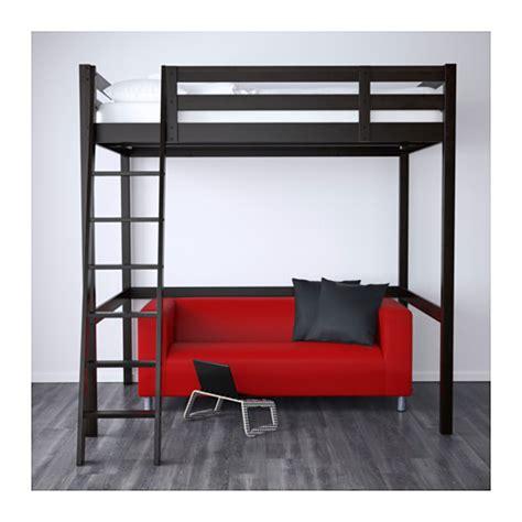 stora loft bed stor 197 struttura per letto a soppalco nero nero 140x200 cm santa pinterest loft