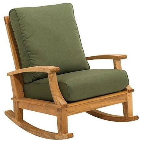 Patio Rocking Chair Ventura Rocking Chair With Cushion Patio Furniture Traditional Rocking Chairs By Frontgate
