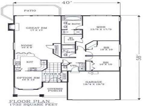 Craftsman Style Bungalow Floor Plans by Craftsman Open Floor Plans Craftsman Bungalow Floor Plans