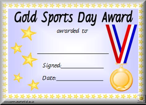 Sports Day Certificate Templates Free printable certificates for sports day 9jasports