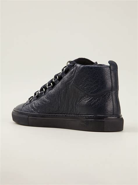 balenciaga blue sneakers balenciaga arena sneakers in blue for lyst