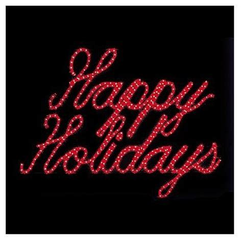 lighted happy holidays outdoor sign outdoor christmas