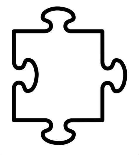 Puzzle Piece Template 19 Free Psd Png Pdf Formats Puzzle Outline Template