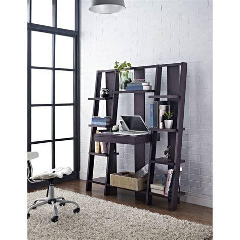 ladder bookcase with desk altra furniture ladder bookcase with desk espresso bj